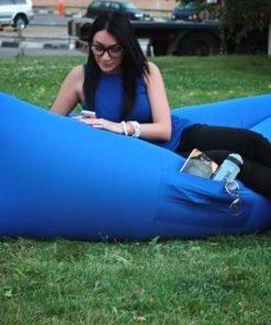 Надувной лежак AirPuf Синий