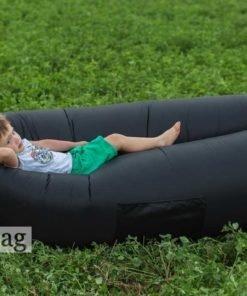 Надувной лежак AirPuf Черный